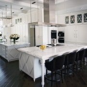 Traditional white kitchen - Traditional white kitchen - cabinetry, countertop, cuisine classique, dining room, floor, flooring, interior design, kitchen, room, table, wood flooring, white