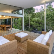 Contemporary outdoor seating - Contemporary outdoor seating - architecture, estate, house, interior design, living room, property, real estate, gray