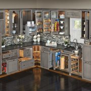 Behind closed doors - there's a place for cabinetry, furniture, kitchen, product, gray, black