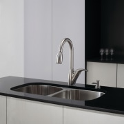 While chrome-finished faucets have a mover look, faucets bathroom sink, countertop, plumbing fixture, product design, sink, tap, gray