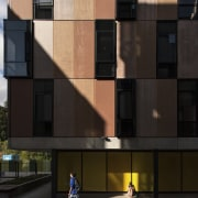 Carlaw Park Student Village in Auckland accommodates students apartment, architecture, building, condominium, facade, house, residential area, wall, window, black