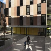 Carlaw Park Student Village in Auckland accommodates students apartment, architecture, building, commercial building, condominium, facade, house, mixed use, neighbourhood, real estate, residential area, urban design, window, black