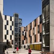 Carlaw Park Student Village in Auckland accommodates students apartment, architecture, building, city, commercial building, condominium, facade, metropolis, metropolitan area, mixed use, neighbourhood, residential area, sky, town, urban area, urban design, gray