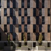 Carlaw Park Student Village features a precast concrete architecture, building, facade, wall, window, black