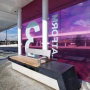 Honed basalt supplied by SCE Stone & Design architecture, interior design, gray, purple