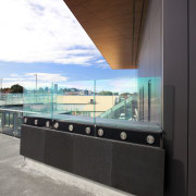 Honed basalt supplied by SCE Stone & Design architecture, daylighting, glass, house, window, black