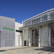 A new state-of-the-art depot for Aucklands new electric architecture, building, commercial building, corporate headquarters, facade, real estate, gray, blue