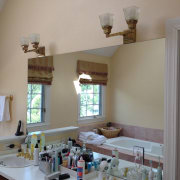 Tranquil, private bathroom sanctuary - Tranquil, private bathroom ceiling, daylighting, furniture, home, house, interior design, kitchen, living room, real estate, room, table, wall, window, gray