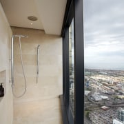 Shower in penthouse apartment - Shower in penthouse apartment, architecture, house, property, real estate, gray
