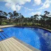 Mayfair Pools, a specialist in fibreglass pool construction, backyard, estate, house, leisure, property, real estate, resort, sky, swimming pool, vacation, water, teal