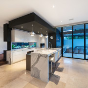 AG Constructions in St Kilda, Victoria won the estate, floor, interior design, kitchen, living room, property, real estate, gray