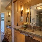 Tile bathroom with wheelchair access - Tile bathroom bathroom, ceiling, countertop, home, interior design, kitchen, lighting, real estate, room, brown