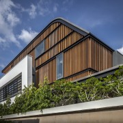 Architect Robin Tan of Wallflower Architecture + Design architecture, building, cottage, facade, home, house, real estate, residential area, sky, blue, brown