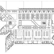 Plan of typical floor of Tyree Energy Technologies architecture, area, black and white, design, diagram, drawing, floor plan, font, line, line art, plan, product design, structure, technical drawing, text, white