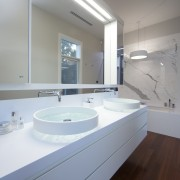 Vanity in HIA bathroom of the year - architecture, bathroom, bathroom accessory, bathroom cabinet, countertop, home, interior design, property, room, sink, gray