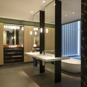 HIA bathroom design of the year - HIA architecture, interior design, lobby, brown, black