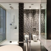 HIA bathroom design of the year - HIA bathroom, glass, interior design, wall, window, gray