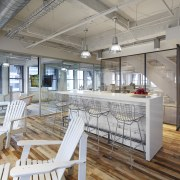This new Kimberly-Clark office in Chicago presents several interior design, real estate, gray