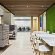 This informal meeting space forms part of the architecture, ceiling, interior design, gray, brown