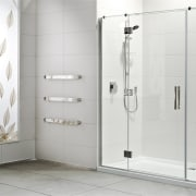 Clean and sparkling shower glass with Diamond Fusion bathroom, bathroom accessory, floor, plumbing fixture, product design, shower, shower door, white