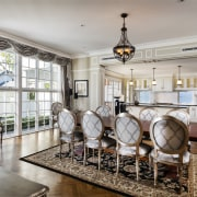 Full of with character and charm, this new dining room, interior design, living room, real estate, room, gray
