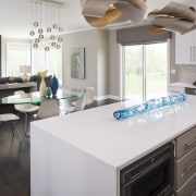 This kitchen designed by Renae Keller is at countertop, cuisine classique, home, interior design, kitchen, room, gray