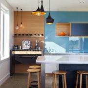 Coffee center in NKBA NZ award-winning kitchen 2014 ceiling, countertop, furniture, home, house, interior design, kitchen, room, table, white