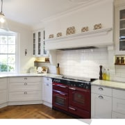 Custom colours for cookers, with three to four cabinetry, countertop, cuisine classique, home, interior design, kitchen, property, real estate, room, window, gray