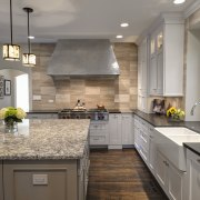 Traditional kitchen with French influence by Drury Design cabinetry, countertop, cuisine classique, home, interior design, kitchen, room, gray