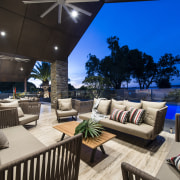 Outdoor furnishings by Mobilia were chosen by Gliosca estate, home, interior design, living room, patio, penthouse apartment, property, real estate, black