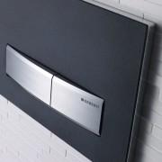 Flush plate for Geberit hidden toilet cistern - automotive exterior, product, product design, black, white