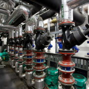 Complex hidden plant equipment by Aquaheat New Zealand factory, industry, machine, manufacturing, product, black