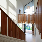 Duo Design, the Jalcon Homes in-house design consultancy, architecture, daylighting, handrail, house, interior design, lobby, real estate, stairs, window, wood, brown