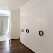 Rich wood floors in the rest of the door, floor, flooring, home, interior design, property, real estate, room, gray