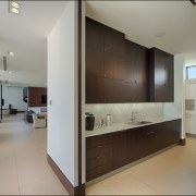 Both the front-of-house kitchen and the working kitchen architecture, house, interior design, kitchen, real estate, gray