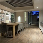 Separate but connected-strategically linked spaces provide both conviviality ceiling, floor, flooring, interior design, real estate, gray, black, brown