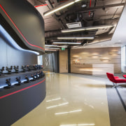 The reception area at McCann Worldgroups new Bangkok auditorium, ceiling, interior design, black