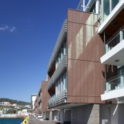 Pre-weathered Pigmento Brown VM Zinc was supplied by apartment, architecture, building, condominium, facade, house, mixed use, real estate, residential area, sky, blue, gray