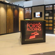 A wide variety of interior decor solutions is display case, exhibition, flooring, orange, black
