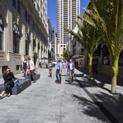 The OConnell Street shared space in the Auckland alley, asphalt, city, downtown, infrastructure, lane, neighbourhood, pedestrian, road, sidewalk, street, town, urban area, black, gray