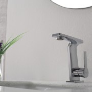 Kraus Novus faucet in polished chrome from the plumbing fixture, product design, tap, gray