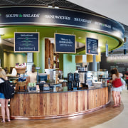 The café at the Institute of Environmental Sustainability, gray