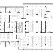 Typical floor plan for Harry Perkins Institute for architecture, area, black and white, design, diagram, drawing, elevation, floor plan, font, line, plan, product design, schematic, square, structure, technical drawing, text, white