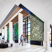 Harry Perkins Institute for Medical Research by Hames architecture, ceiling, daylighting, interior design, lobby, product design, white