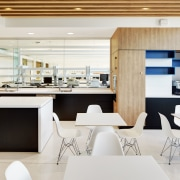 Harry Perkins Institute for Medical Research by Hames interior design, kitchen, office, product design, white