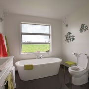 GJG Okarito Levin 0484 HR Bathroom 300 - architecture, bathroom, home, house, interior design, property, real estate, room, window, gray