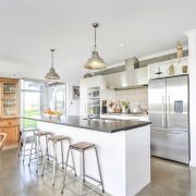 The kitchen in this award-winning home by Fowler countertop, cuisine classique, interior design, kitchen, real estate, white