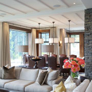 Queenstown Interiors undertook the full interior design for ceiling, home, house, interior design, living room, real estate, room, window, gray