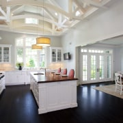 A new breakfast room with a ceiling the ceiling, countertop, daylighting, estate, home, interior design, kitchen, real estate, room, gray