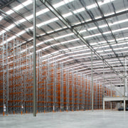 The JPL Distribution Centre was designed by Tse architecture, building, daylighting, scaffolding, steel, structure, warehouse, gray